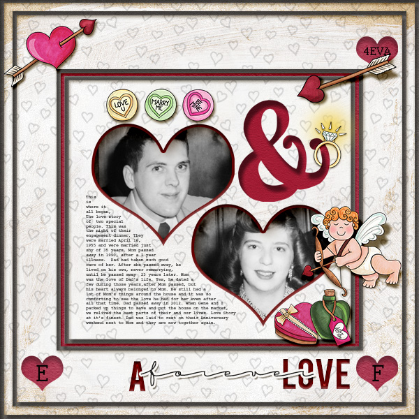 Digital scrapbook layout created with the FREE digital scrapbooking template from Kate Hadfield Designs! | layout by CT member Christa