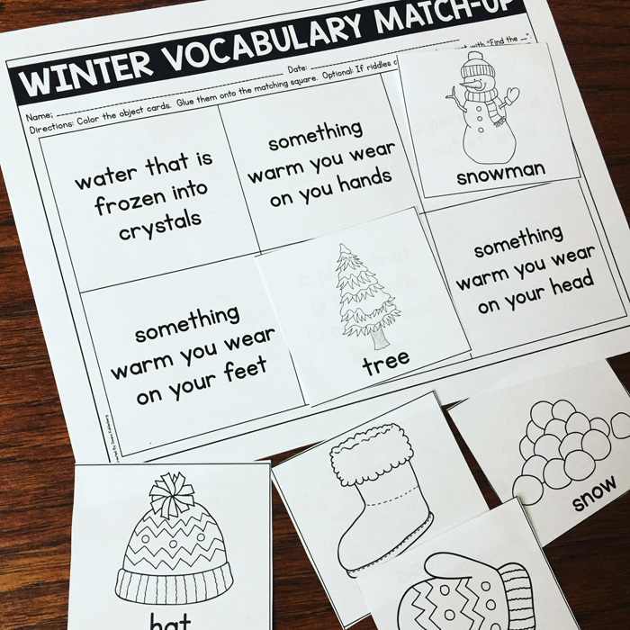 Winter Basic Concepts by Primary Punch | illustrations from Kate Hadfield Designs