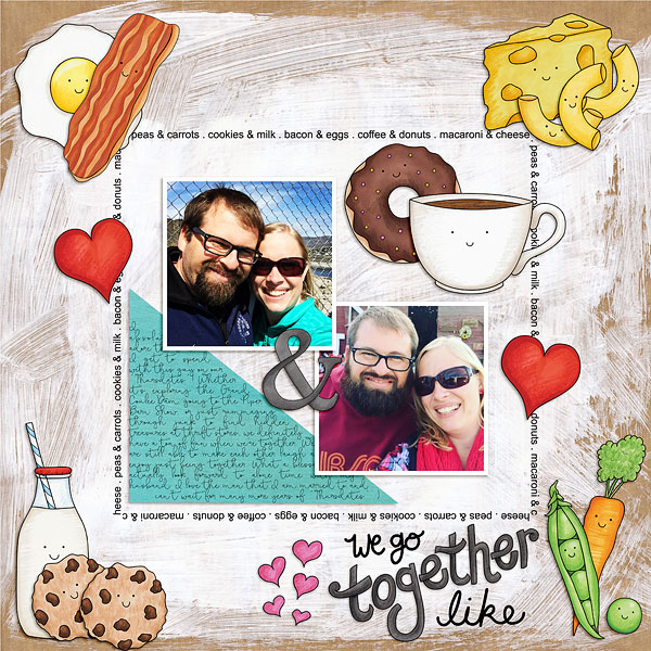 Digital scrapbook layout created with the FREE digital scrapbooking template from Kate Hadfield Designs! | Layout by CT member Bethany