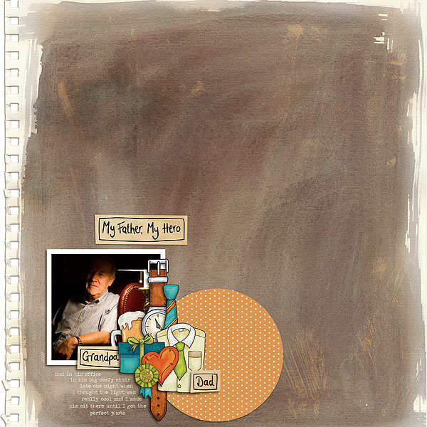 Digital scrapbook layout created with the FREE digital scrapbooking template from Kate Hadfield Designs! | layout by CT member Melanie