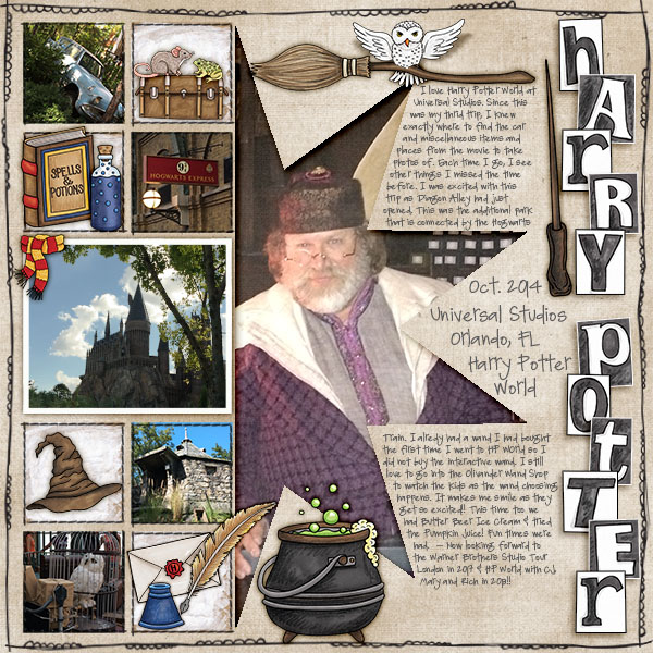 `Digital scrapbook layout created with the FREE digital scrapbooking template from Kate Hadfield Designs! | layout by CT member Christa