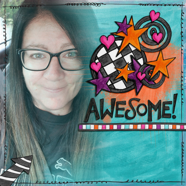 AmyDigital scrapbook layout created with the FREE digital scrapbooking template from Kate Hadfield Designs! | layout by CT member Kirstie