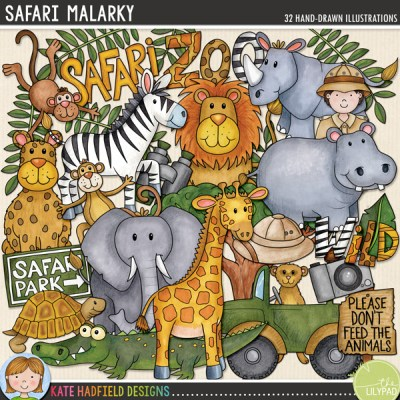 Safari Malarky digital scrapbooking kit from Kate Hadfield Designs