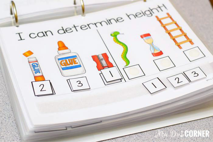 Measurement Adapted Work Binder by Mrs D's Corner | illustrations by Kate Hadfield Designs