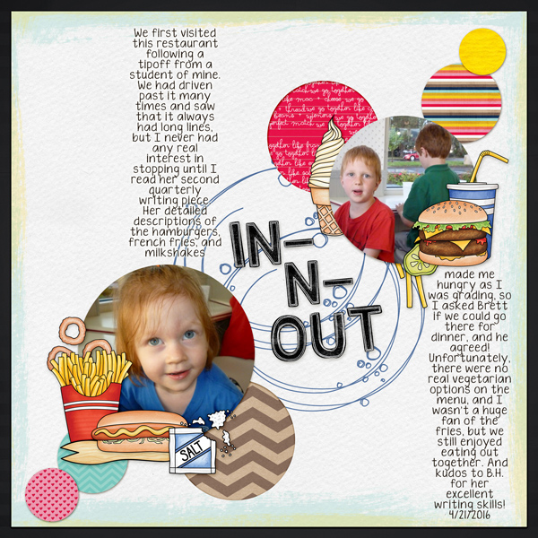 Digital scrapbook layout created with the FREE digital scrapbooking template from Kate Hadfield Designs! | layout by CT member Molly
