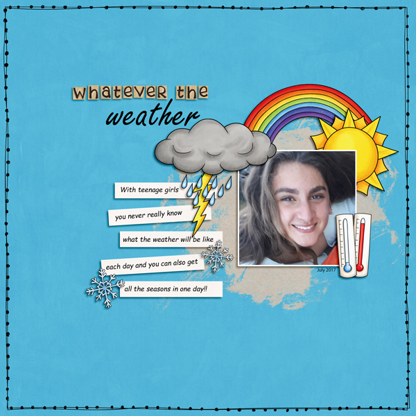 Digital scrapbooking page created with this month's free template from Kate Hadfield – fun ideas for scrapbook pages! Layout created by Creative Team member Kirstie