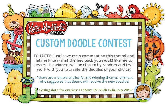 custom doodle contest