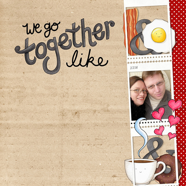 Valentine's digital scrapbook page by Olga