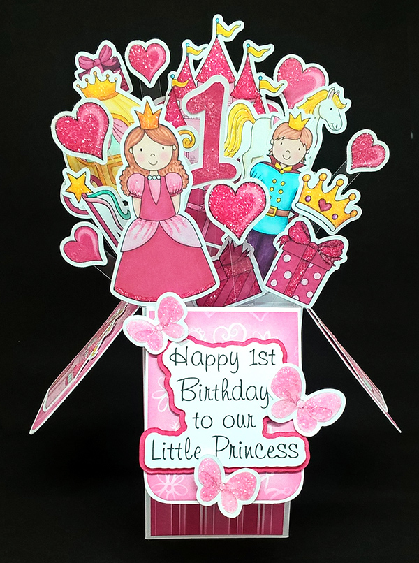 fairytale princess pop up box card