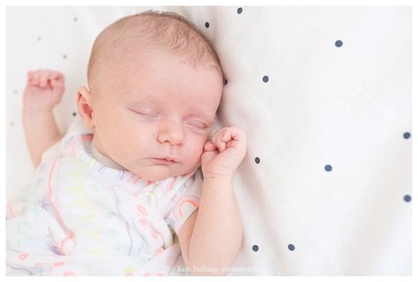 Baby girl asleep