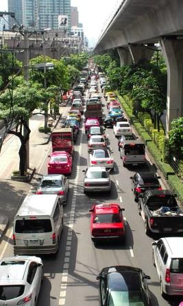 Sukhumvit Road, right outside our apartment
