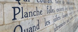 I love text. Especially on Parisian walls.