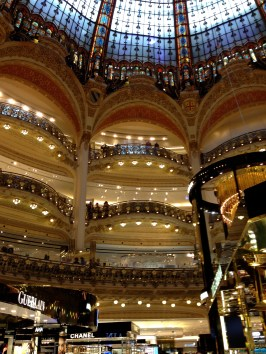 The Galeries Lafayette shopping mall (this part is just for women!)