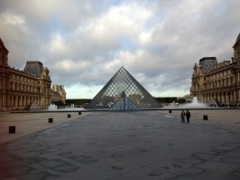 Pyramids outside the Louvre