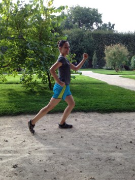 Running in the Jardin des Plantes a few days later :)