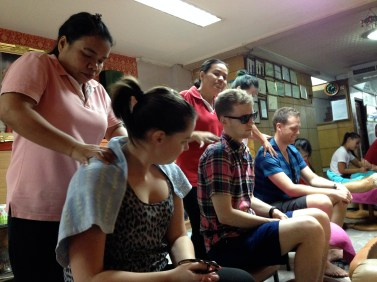massages at our local place on Sukhumvit
