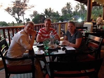Sean, Michael, & Larisa on our last night on Phuket