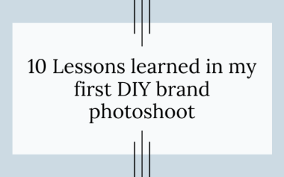 10 Lessons Learned in My First DIY Photoshoot