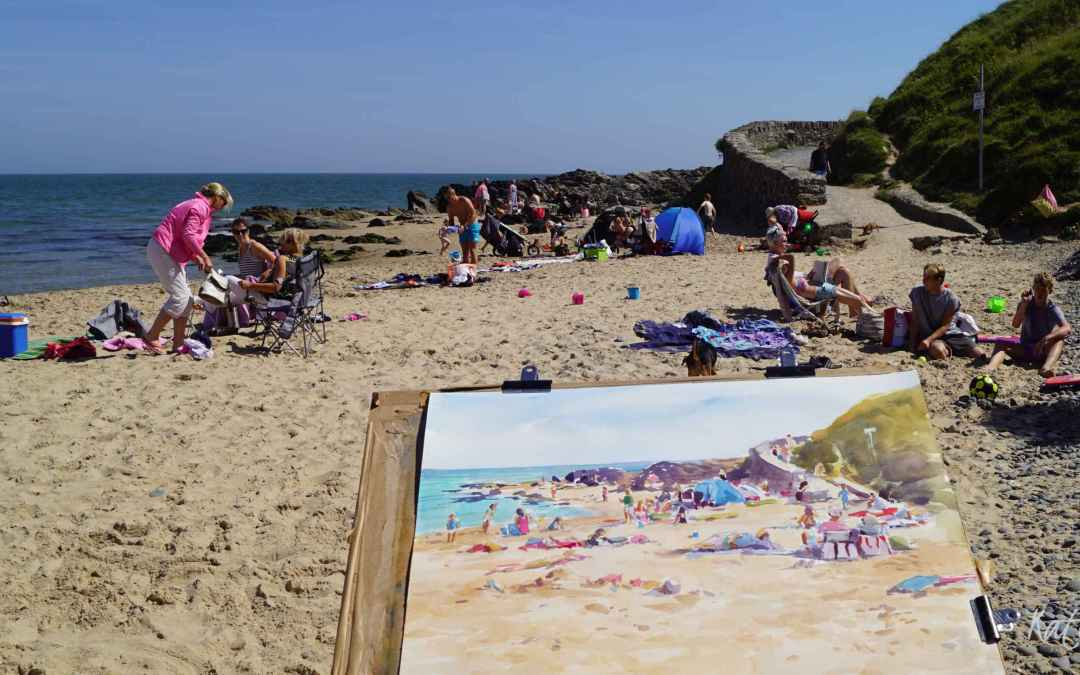 Thinking of trying plein air painting few tips and - Exterior painting temperature minimum ...