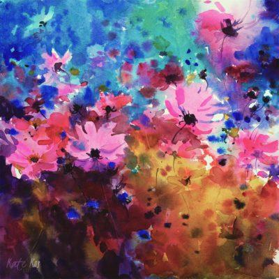 2018 art painting watercolor floral by Kate Kos - Fantasies