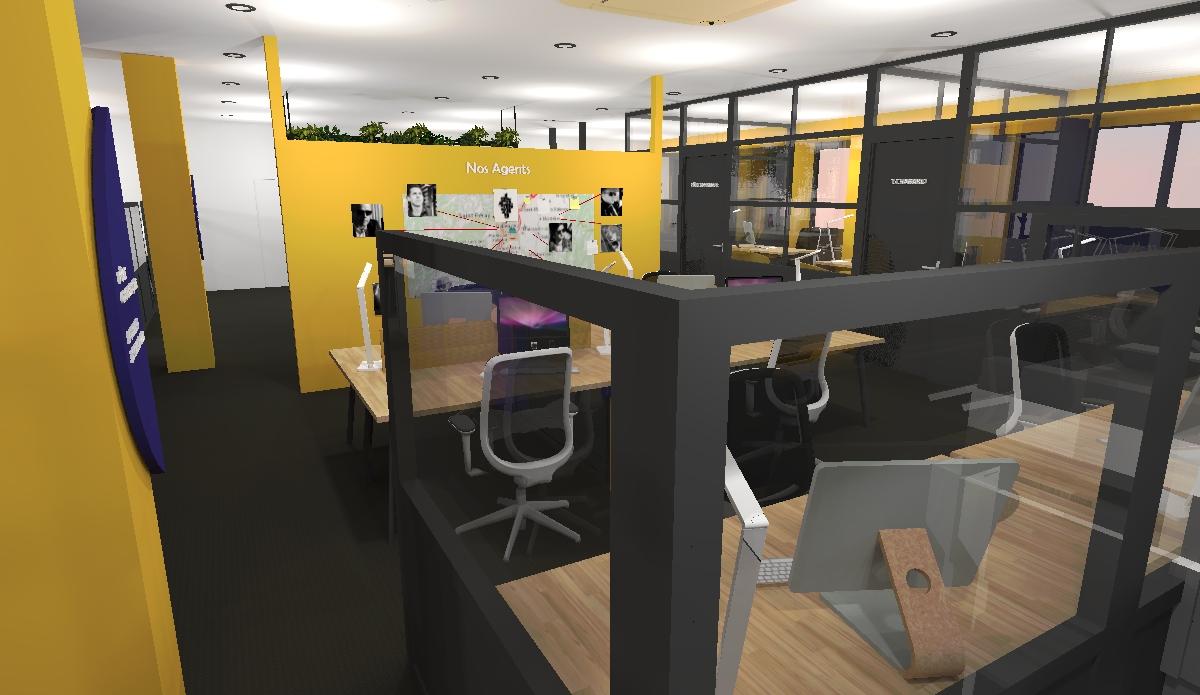 rénovation bureaux Tout Simplement Digital