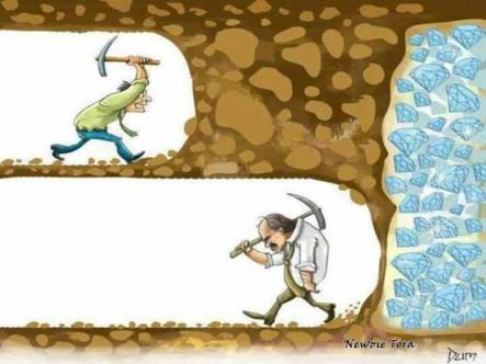 Success-determination-don't give up-digging