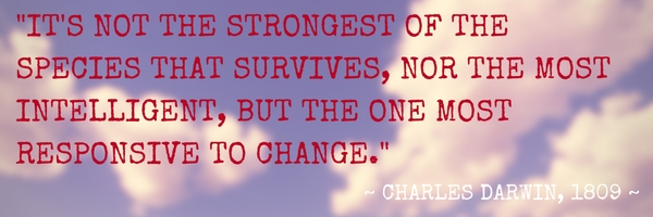The one most responsive to change - Charles Darwin Quote