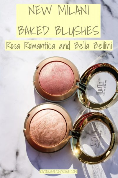 SWATCHES OF THE NEW MILANI BAKED BLUSHES | ROSA ROMANTICA AND BELLA BELLINI