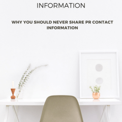 BLOGGER RANT: SHARING PR CONTACT INFORMATION