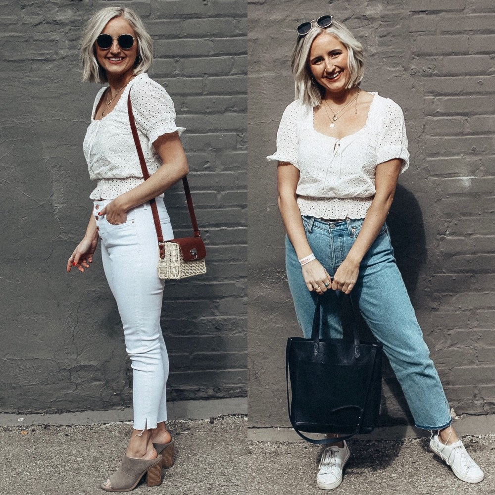 the best spring top | white peasant top for spring