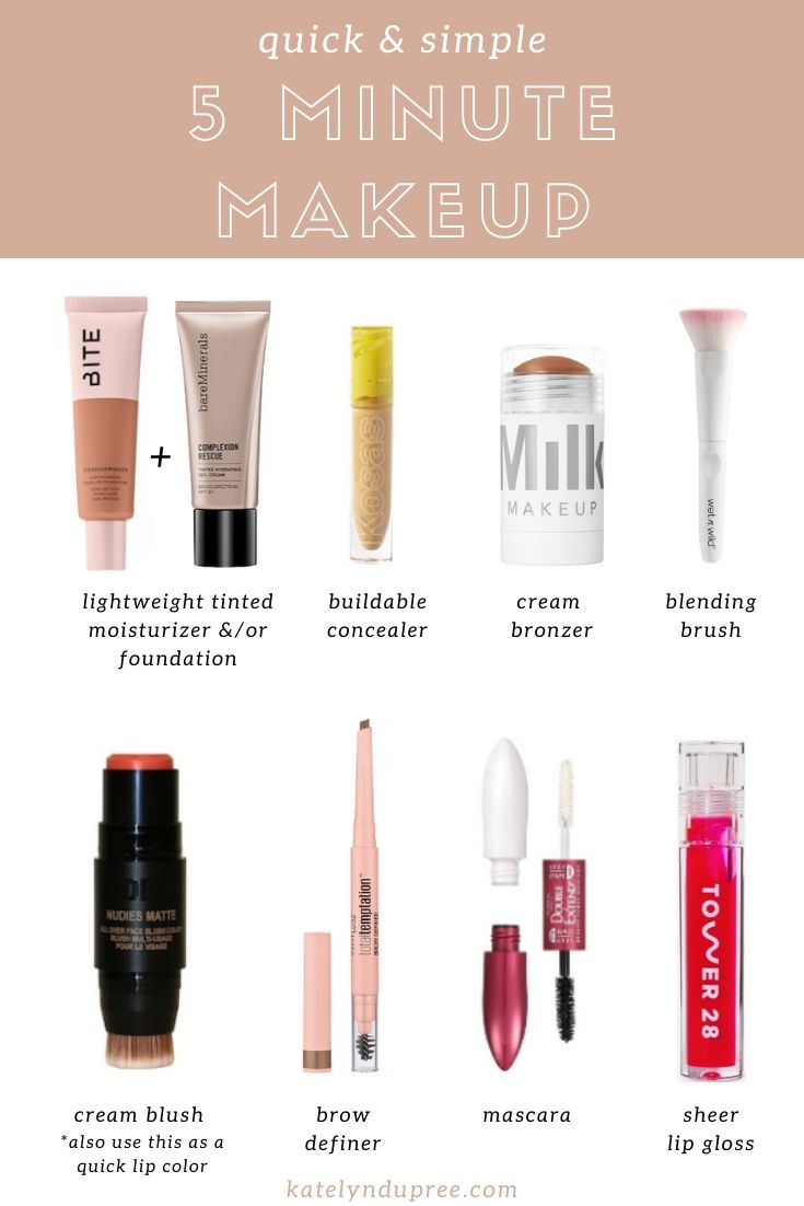 quick and simple five minute makeup