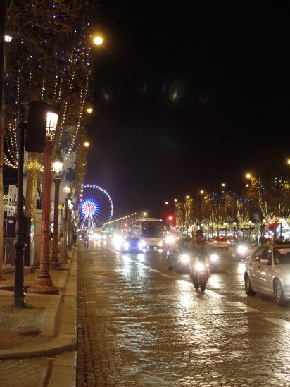 Walking by the Champs Elysées