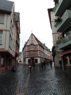 "The reconstructed ""old-German"" parts of Mainz"