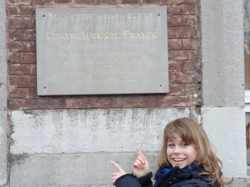 Plaque where Franck was born, Liège