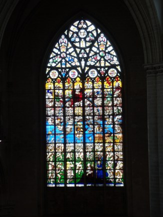 Rear stained-glass window, Cathédrale Saints-Michel-et-Gudule, Brussels