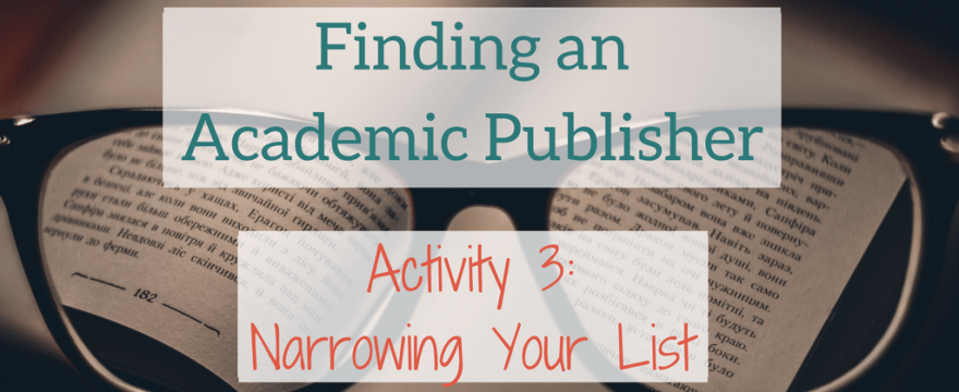 Finding the Right Academic Publisher #3: Assessing University Press Fit