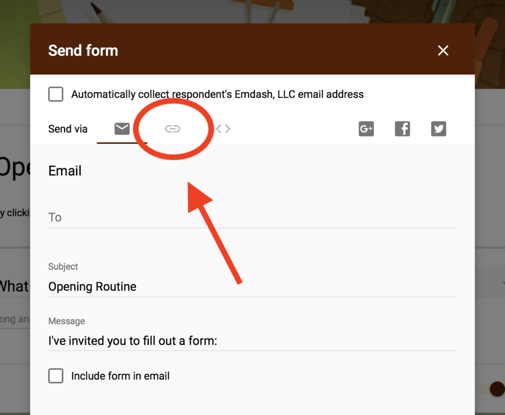Link Icon Google Form
