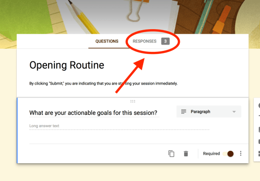 Opening Routine Editor