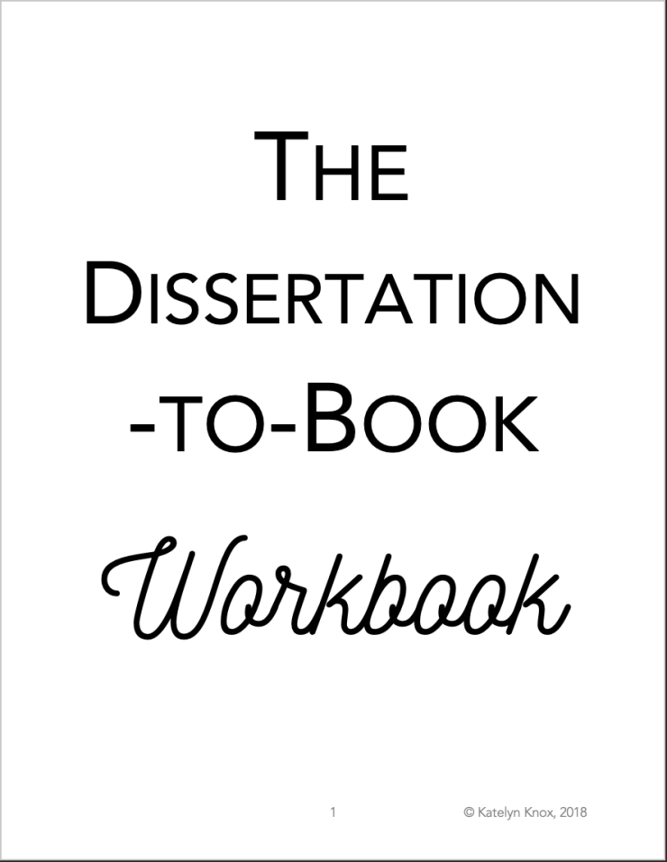 Dissertation to Book workbook cover