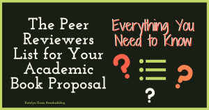 Reviewers List Academic Book Proposal