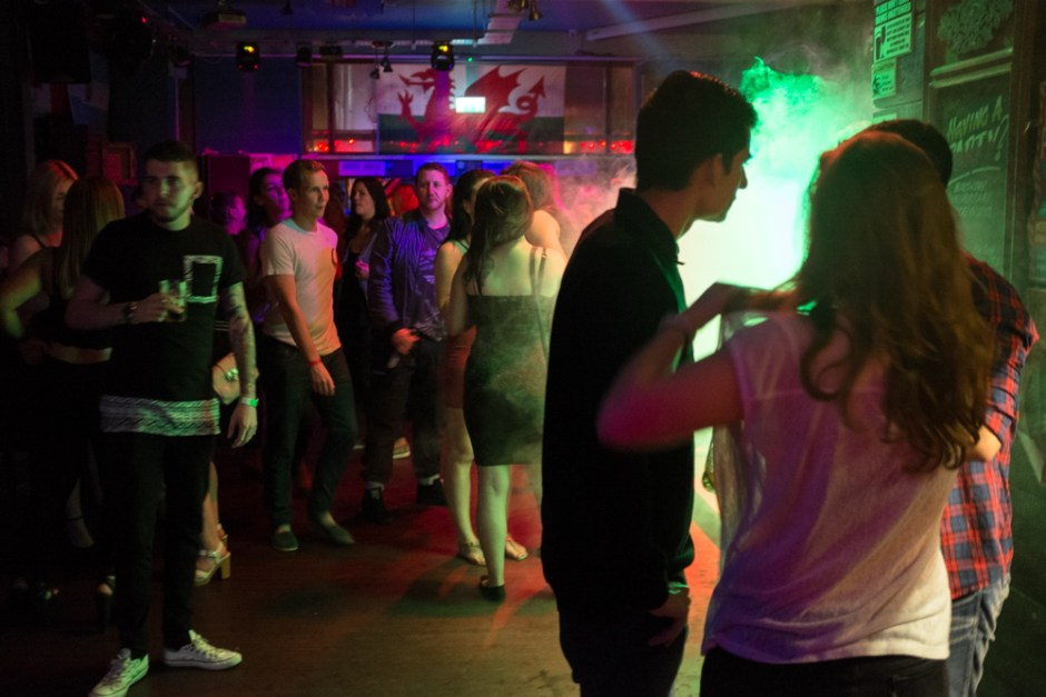 GB. Wales, Newport. On the dance floor of a local nightclub. 2015.