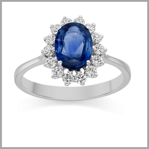 Fake Blue Diamond Rings