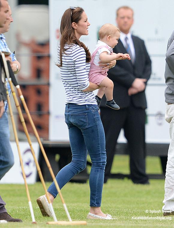 Kate Middleton wearing her Sebago Bala boat shoes