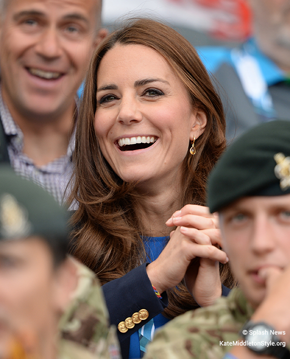 Kate in the crowd at the XX Commonwealth Games