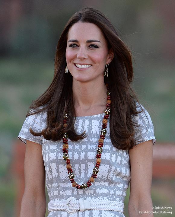 Duchess wearing the Hobbs Wessex dress