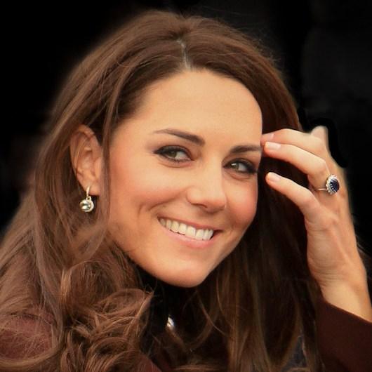 Kate Middleton wearing Kiki McDonough earrings in Liverpool