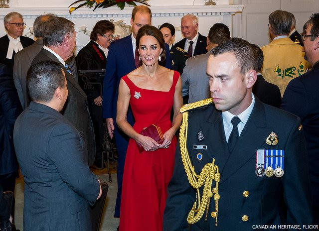William and Kate attended a reception at Government House