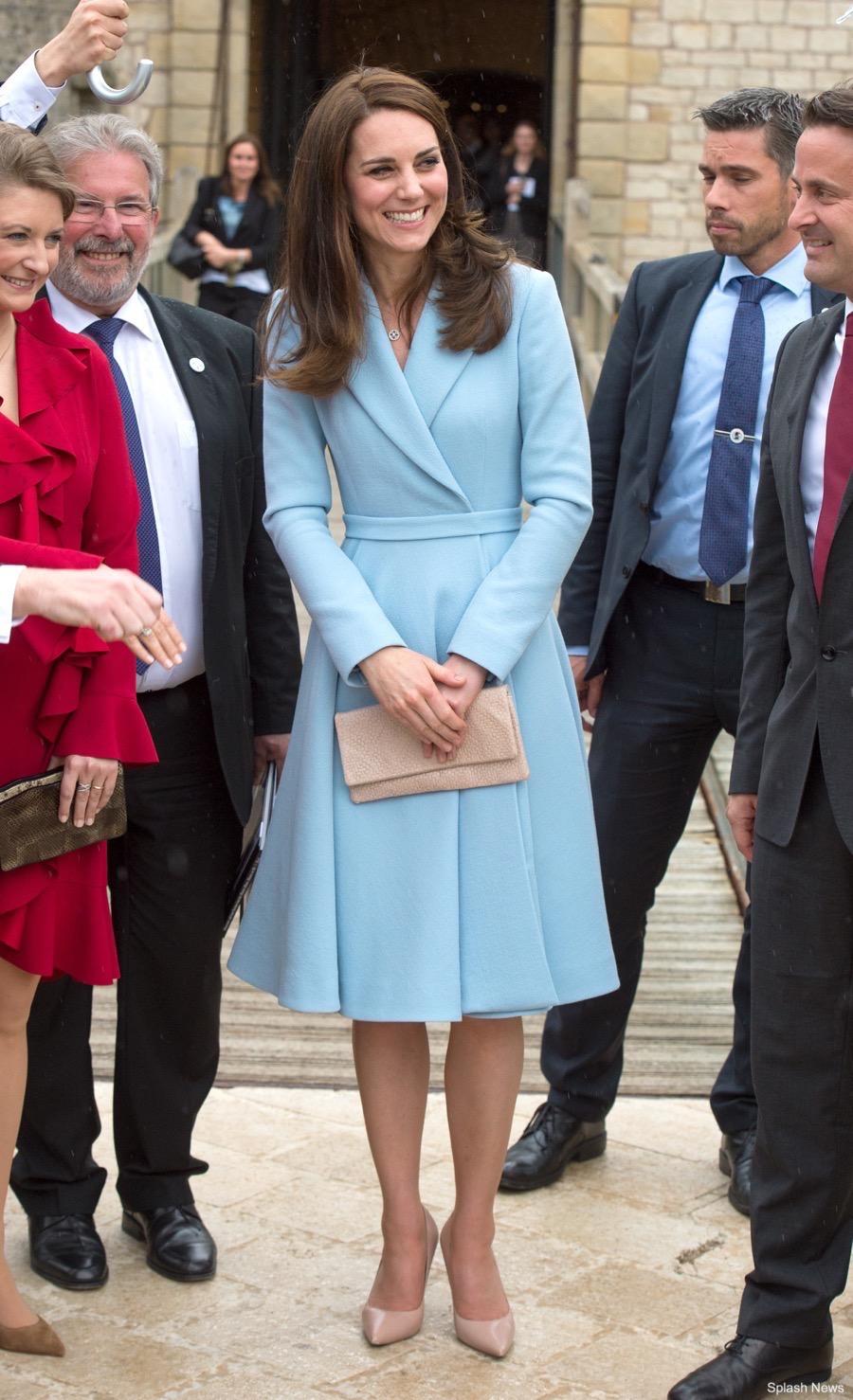 Kate Middelton wears Emilia Wickstead in Luxembourg