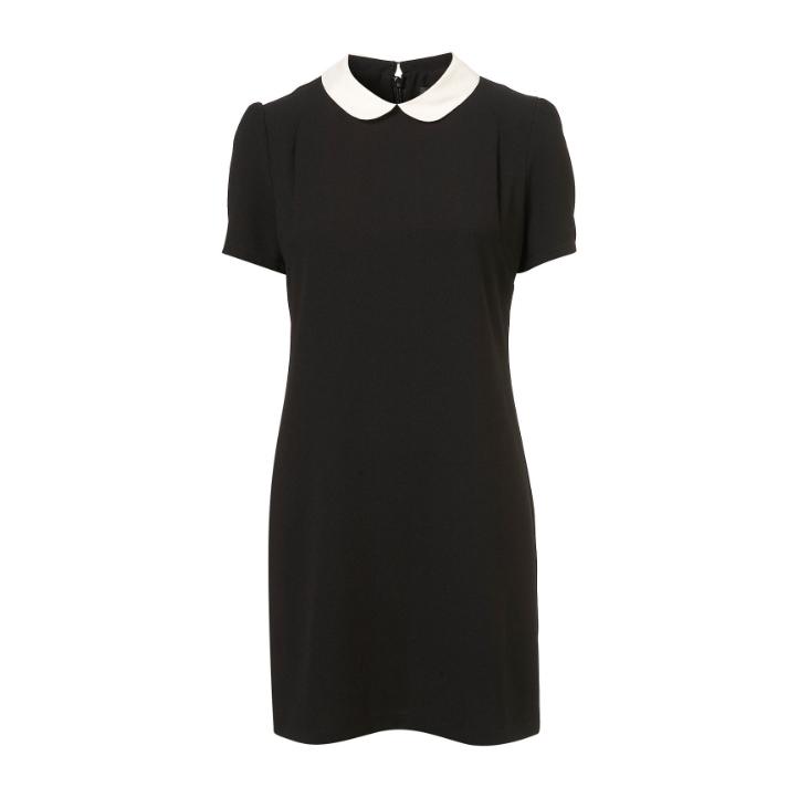 Topshop Contast Collar Shift Dress