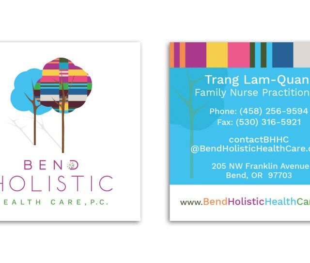 Bend Holistic Health Care Business Cards